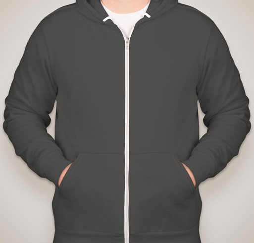American Apparel Flex Fleece Drop Shoulder Pull Over Hoodie