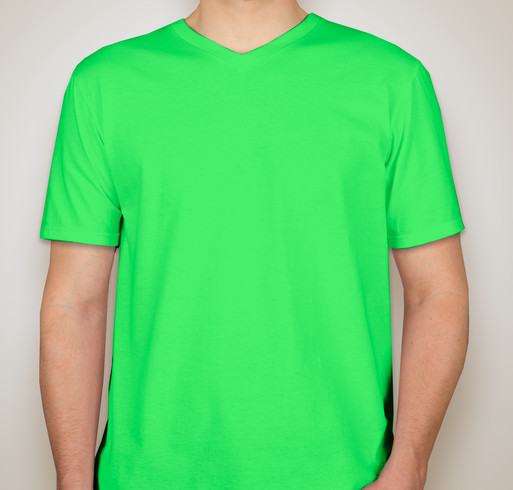 100% Ringspun V-neck Cotton T-shirt